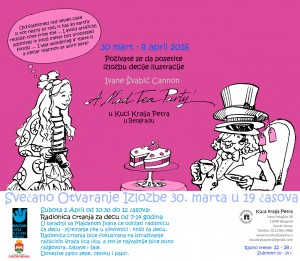 'A mad Tea Party' During the exhibition I will be running a workshop in illustration for kids 7-13 years old.